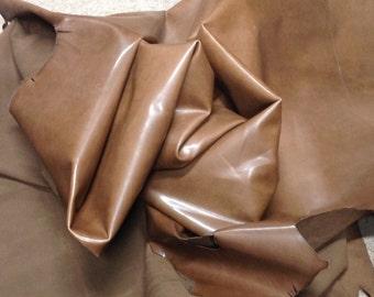 BRFE16.  Smooth Brown Leather Cowhide