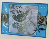 Bird In The Trees Card, Handmade Thank You Card, Christian Card, KJV Scripture.