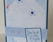 You're In My Prayers Blue Flowers Christian Praying For You Card With Scripture