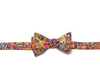 Pomp & Ceremony, Men's Bow tie, Liberty of London Willow Rose