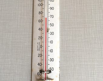Vintage TCA Tru- Temp Metal Thermometer