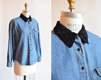 Vintage 1990s DENIM shirt