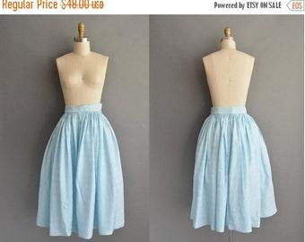 20% OFF SHOP SALE... vintage 1950s skirt / 50s ice blue vintage full skirt