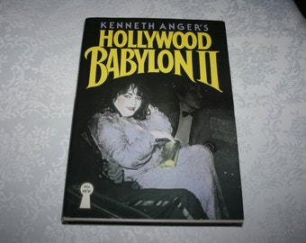 "Vintage Hard Cover Book with Dust Jacket "" Hollyeood Babylon II "" By Kenneth Anger 1984"