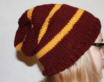 Harry Potter Hat Gryffindor Knit Slouch Hat
