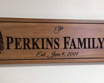 Personalized Family Sign, Family Name Sign rustic home decor Rustic wedding signage