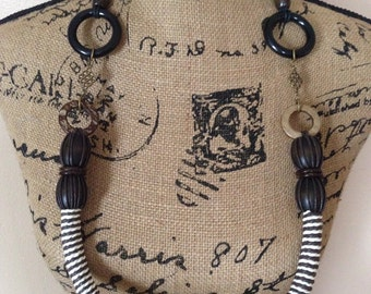 Rope and Bead Circle Necklace