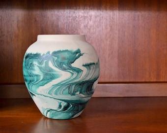 vintage nemadji pottery vase / southwestern home decor / mid-west boho decor
