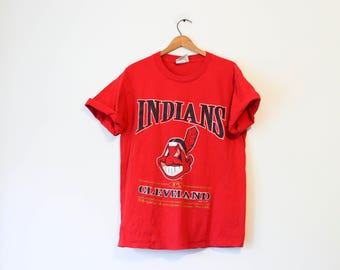 Vintage Red Cleveland Indians Baseball T Shirt
