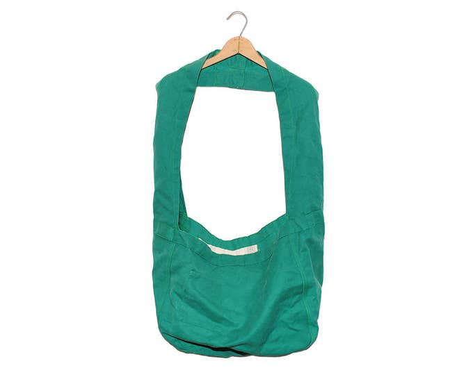 QMC Wide Strap Canvas News Paper Bag - Green