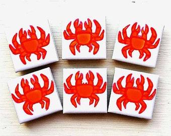Crab Magnet, Fridge Magnet, Seaside, Stationary Magnets, Gift for Teacher, Refrigerator Magnet