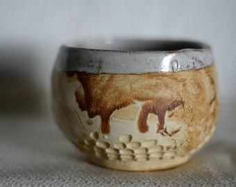 Storyteller - Stoneware tea bowl, chawan