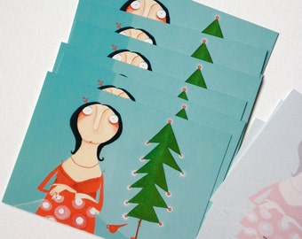 Christmas card set 10 postcards