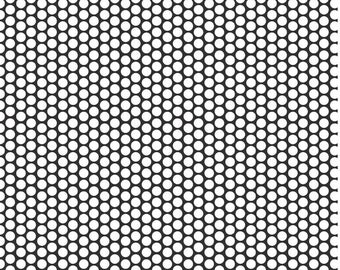 SALE Riley Blake White Dot Honeycomb on Black Cotton Fabric FREE SHIPPING