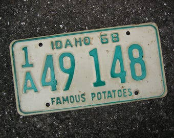 1968 Idaho License Plate