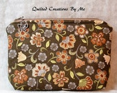 CUSTOM ORDER FOR ktaylor456 Cosmetic Bag/Camera Case/Diabetic Supplies Bag by Quilted Creations By Me