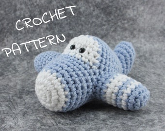 Amigurumi Plane stuffed toy crochet pattern pdf tutorial English and Dutch