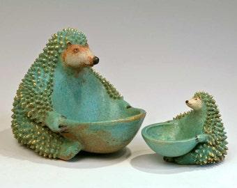 Green Hedgehog  -  small sculpture