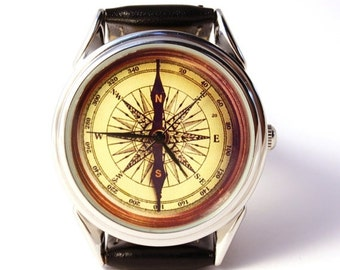 25% OFF ON SALE Watch compass, antique compass, mens watch, handmade watch