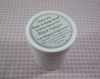 Black Canyon Whipped Body Butter, 4oz Jar Of Body Butter, Body Butter, Body Lotion, Body Cream, Hand Cream, Hand Lotion, Scented Body Butter