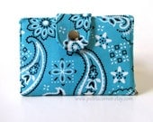 Reserved for Corina - Small wallet with blue bandana