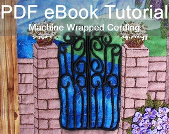 Machine Wrapped Cording eBook Tutorial - Instant Download