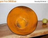 "Next Day Ship - Mid Century Hanova of Pasadena Large 12"" Orange Brutalist Enamel Bowl ~ Excellent Condition"