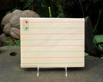 "1971 NOS J. B. Lippincott Co. New Old Stock ""Startwrite"" Preschool, Kindergarten, 1st Grade Child's Primary Color Lined Paper w/ a Stoplight"
