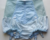 Vintage 50s 60s Blue Bubble Cut Panty Girdle Waist Shaper Spandex Slim Wear S/M