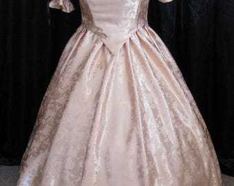 Made to Order 1800's Historic  Civil War Ball Gown, Dress, Corset Bodice, Skirt