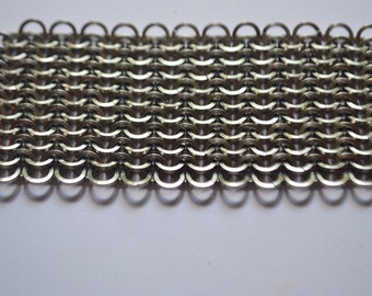 Stainless Steel Chainmaille Mesh Chainmaille Micromaille Chainmaille