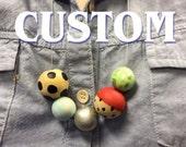 Custom for Valerie: Minnie keychain