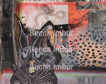"""INSTANT DOWNLOAD : Wasted - 8"""" x 10"""" - Altered Book - Art Journal - Paper Art"""
