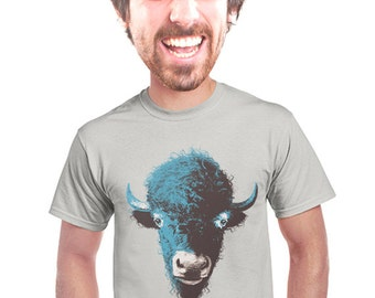 buffalo t-shirt, bison illustration, quirky t-shirt design, animal, graphic tee, artsy t-shirt design, buffalo fans, gift for student, s-4xl