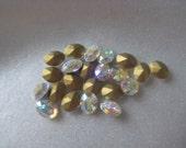 8x6 Swarovski Crystal AB Vintage Jewel Oval Qty 37