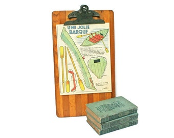 Vintage Clip Board made of Wood / Message Board for Photo or Art Display / Vendor Display Sign / Vintage School or Office Supply