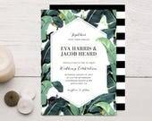 Tropical Plantation Banana Leaf Wedding Invitations