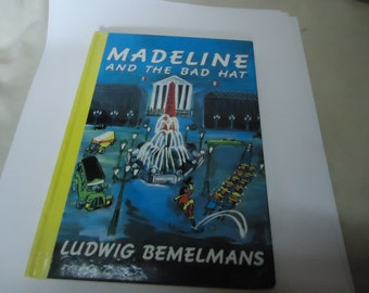 Vintage 1992 Madeline And The Bad Hat by Ludwig Bemelmans Hardback Book, Children's, collectable