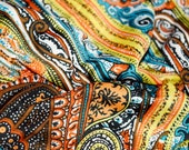 ITY knit Indian Inspired fabric mandalas tribal mehindi ethnic by the yard stretch jersey knit fabric gothic bohemian boho belly dancing