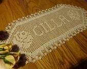 Custom Handmade Crocheted Name Doilies - Personalized Doily - Crochet Name Doily - Custom Crochet Name - Custom Letters -Gift - Gifts