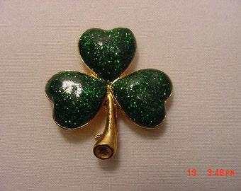 Vintage Clover Leaf Brooch  16 - 612