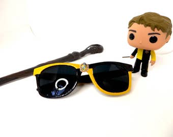 Black and Yellow Harry Potter Hufflepuff House Inspired Wayfarer Sunglasses