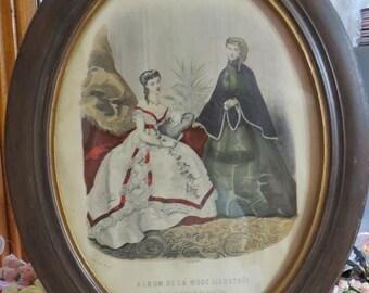 Going Out Of Business Framed Paris De La Mode Illustratee-1880's