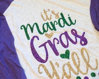 Mardi Gras Raglan, Mardi Gras Shirt, Mardi Gras, NOLA Shirt, Mardi Gras Vacation, Mardi Gras Parade, Parade Shirt, Mardi G