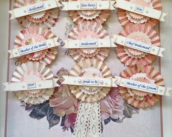 Bride to Be Rosette Badge