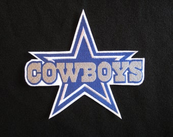 Embroidered Dallas Cowboys Logo, Iron On Patch, Iron On Cowboys Logo, Dallas Cowboys