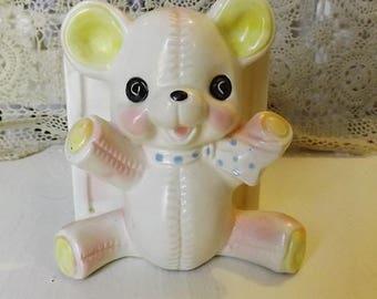 Vintage Teddy Bear/ABC Block  Planter