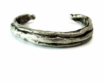 Sterling Silver Stackable Bracelets -- handmade and limited edition