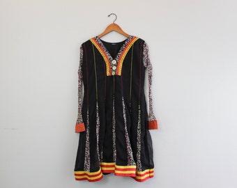 Vintage Long Sleeve Funky Dress Baby Doll Style Dress