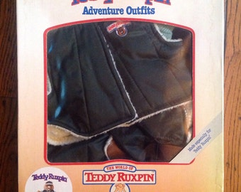 Vintage 1985 Teddy Ruxpin Hiking Outfit in Box Adventure Outfits